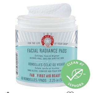 Brand new! First Aid Beauty facial radiance pads
